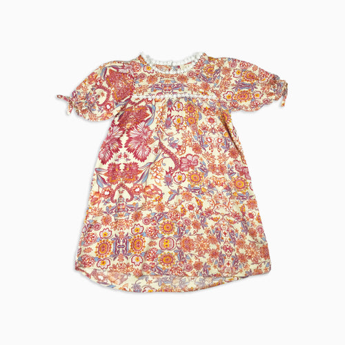 Baby Girl Clothes: red flower dress flat lay