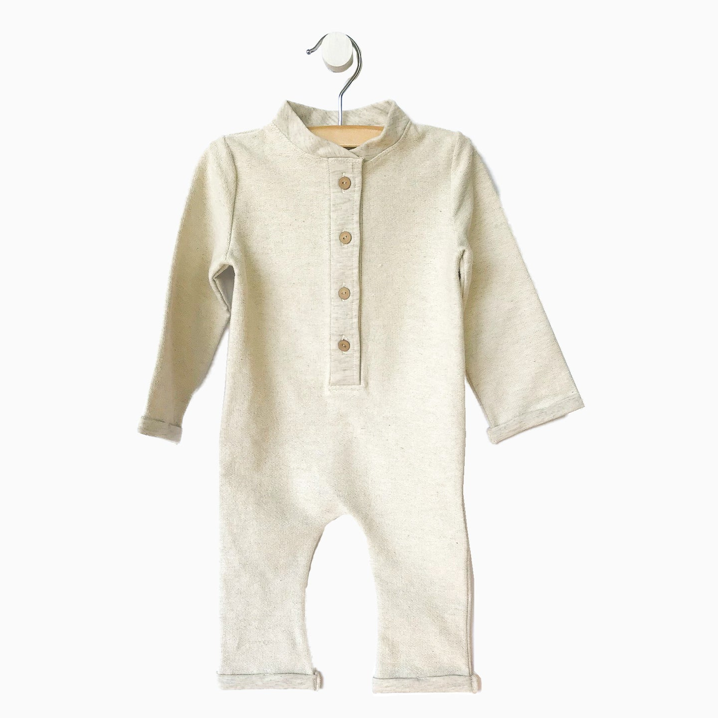 Baby Girl Clothes: heather gray boy long sleeve romper