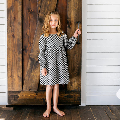 Baby Girl Clothes: front look of plaid dress