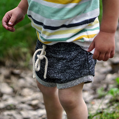 Boy in Dark Grey Shorts: Baby Girl Clothes