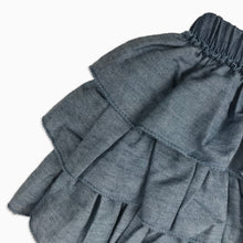 Baby Girl Clothes: close up on denim ruffles