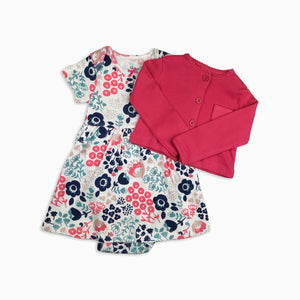 Baby Girl Clothes: pink flower cardigan view