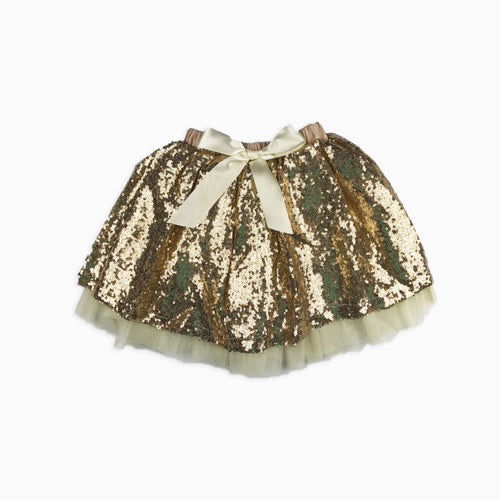 Baby Girl Clothes: gold sparkle skirt