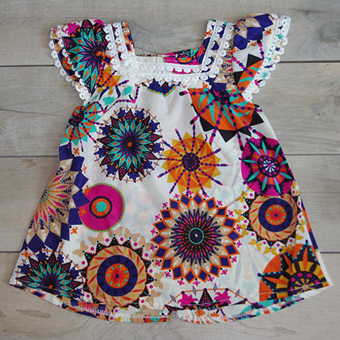 aztec tunic dress front: Baby Girl Clothes