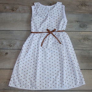 Baby Girl Clothes: Full View of Heart Dress with Belt