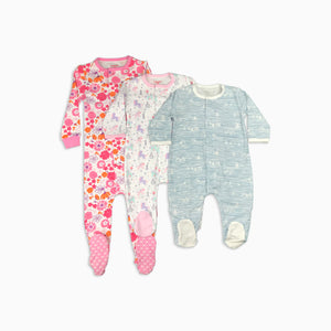 Baby Girl Clothes: set of three pajamas