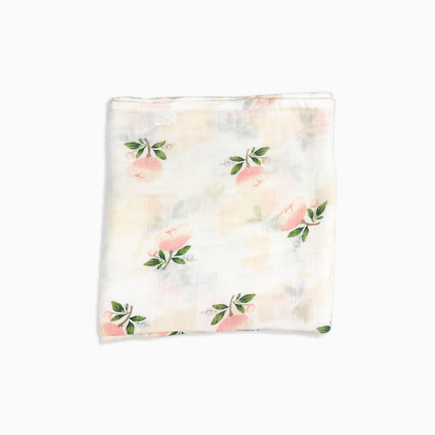 Baby Girl Clothes: muslin blanket with pink roses