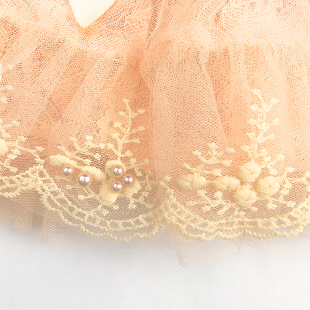Baby Girl Clothes: pearls and tulle on skirt
