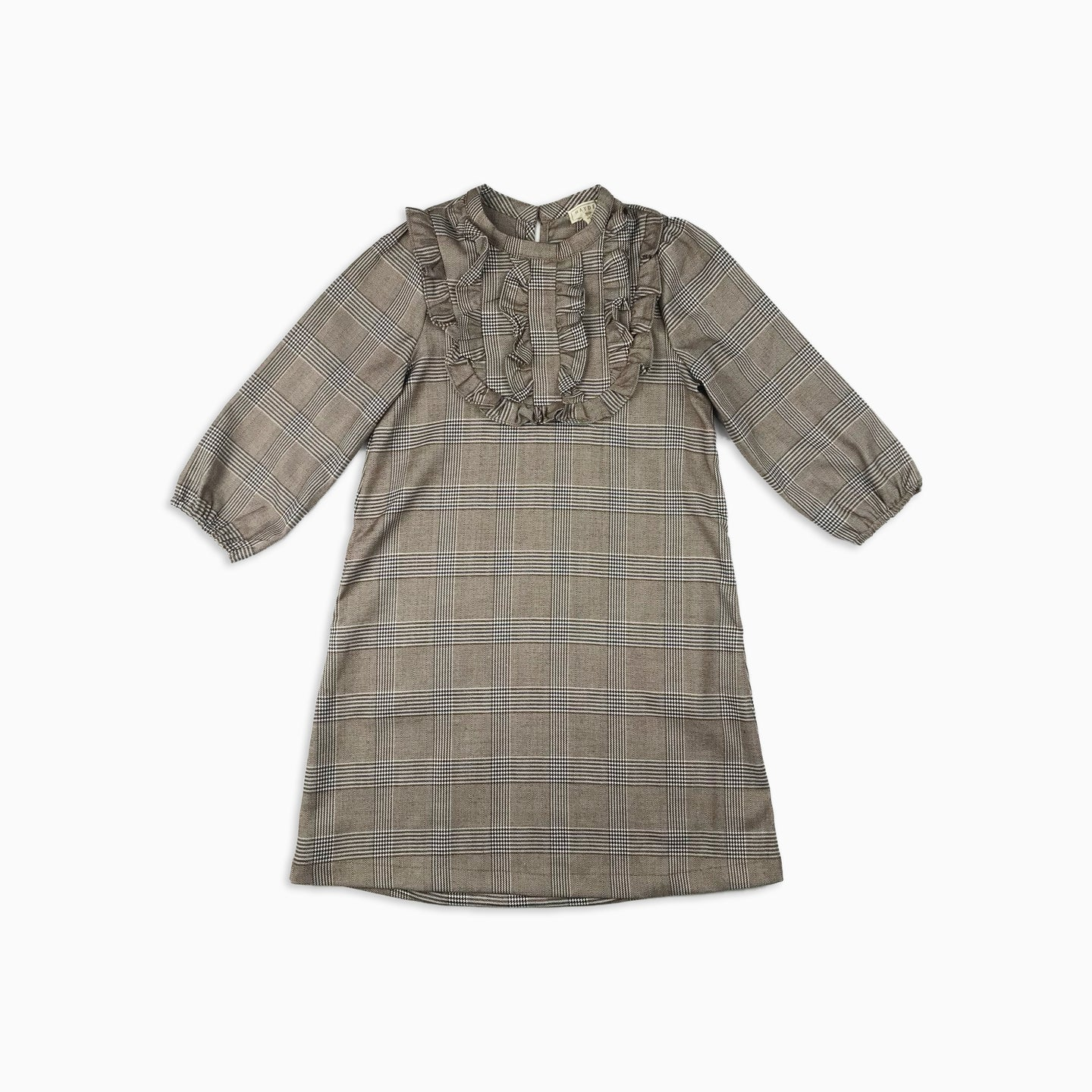 Baby Girl Clothes: view of plaid dress with ruffles