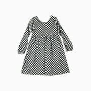 Baby Girl Clothes: white background shot of plaid dress with bow