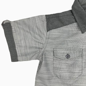 Baby Girl Clothes: sleeve on grey shirt