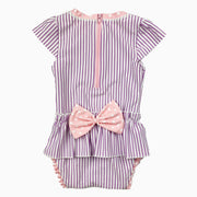 pink bow on swimwear: Baby Girl Clothes