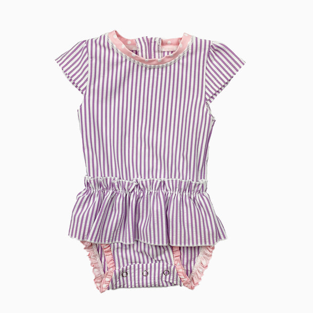 front side of purple stripe: Baby Girl Clothes