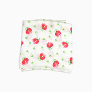 Baby Girl Clothes: red flower blanket