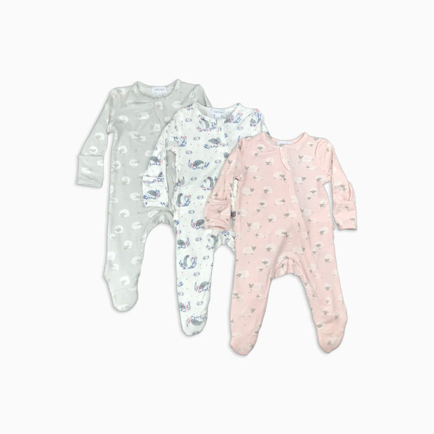 Baby Girl Clothes: photo of three organic pajamas