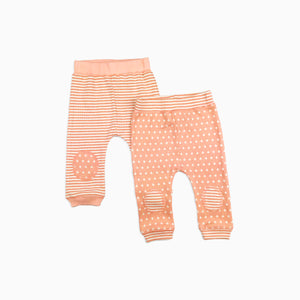 Baby Girl Clothes: shot of both pink joggers