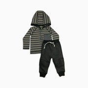 Baby Girl Clothes: striped shirt and biker joggers