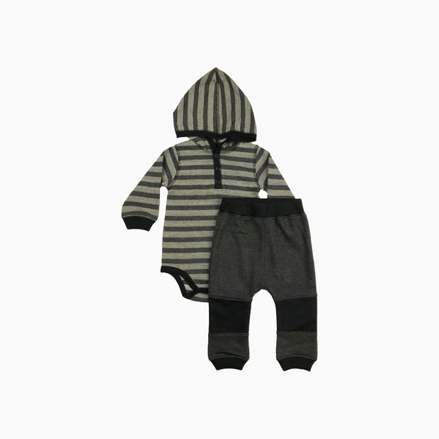 Baby Girl Clothes: matching set with black pants