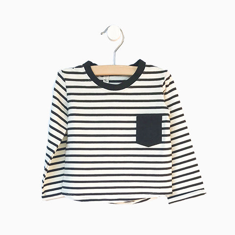Baby Girl Clothes: striped shirt with black pocket