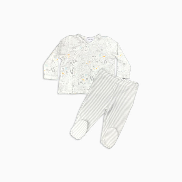 Baby Girl Clothes: full view of organic set
