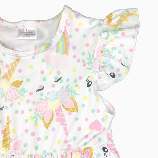 Baby Girl Clothes: sleeve of unicorn dress