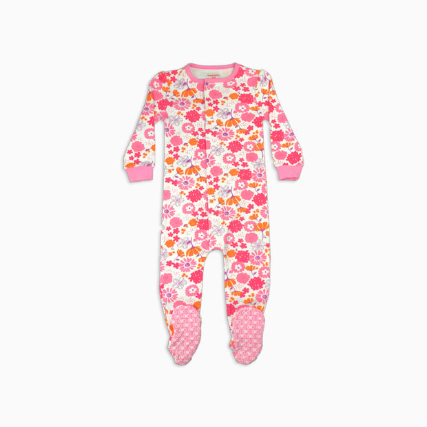 Baby Girl Clothes: bright flowers pajamas