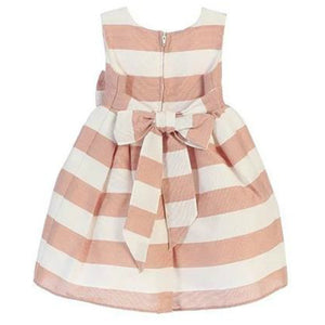 Backside of Pink Striped Dress: Baby Girl Clothes