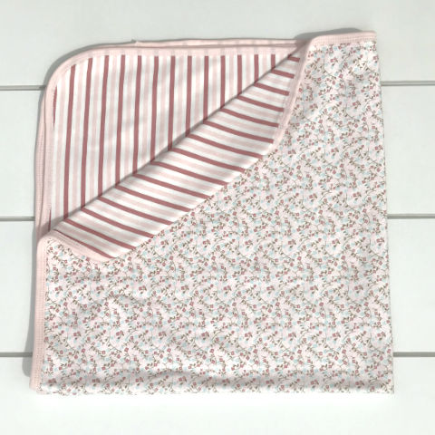 Reversible Striped Blanket: Baby Girl Clothes