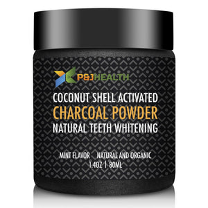100% Natural Charcoal tooth powder, #1 Best organic tooth cleaner, Mint Flavor