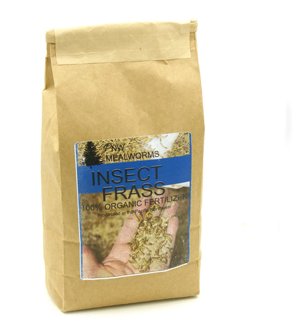Organic Mealworm Frass - 6 lbs (Three 2 lb bags)