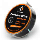 GeekVape SS Twisted Clapton TC Wire (28GAx2/Twisted+30GA) 10ft - Vape Tribez