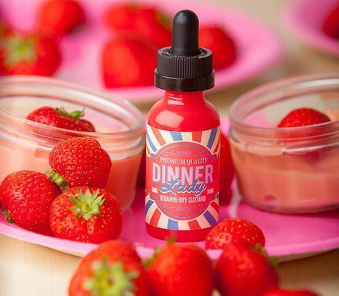 Strawberry Custard by Dinner Lady's - 60ml - Vape Tribez