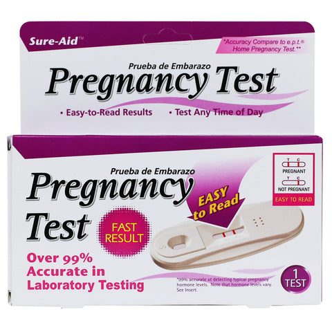 Sure-Aid Pregnancy Test - One Step, 1ct (Compare to First Response)