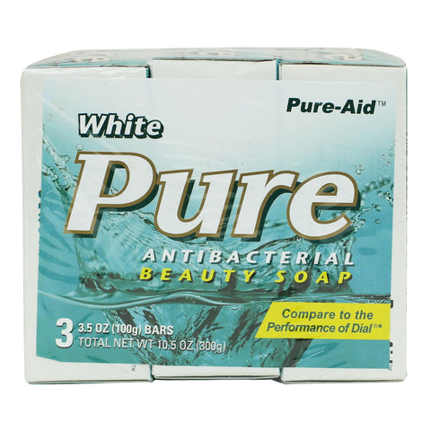 Pure-Aid Pure Antibacterial Deodorant Bar Soap (Compare to Dial)