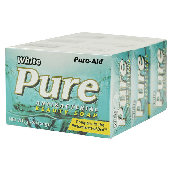 Pure-Aid White Pure Antibacterial Soap, 3 Bars