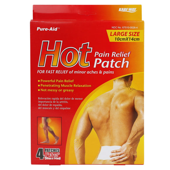Pure-Aid Hot Paint Relief Patch, 4ct