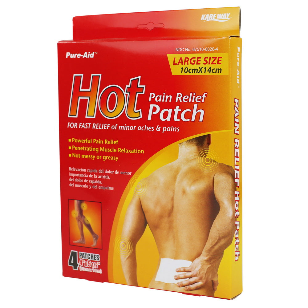 Pure-Aid Hot Paint Relief Patch, 4ct (Compare to Thermacare)