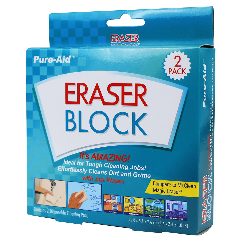 Pure-Aid Eraser Block, 2ct (Compare to Mr. Clean Magic Eraser)
