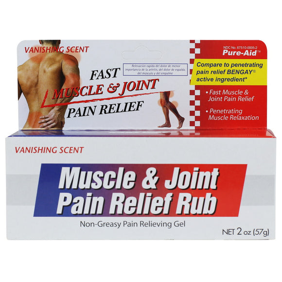 Pure-Aid Muscle & Joint Pain Relief Rub, 2oz