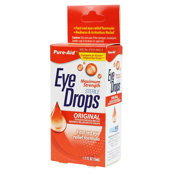 Pure-Aid Redness Reliever Eye Drop, 0.5 oz
