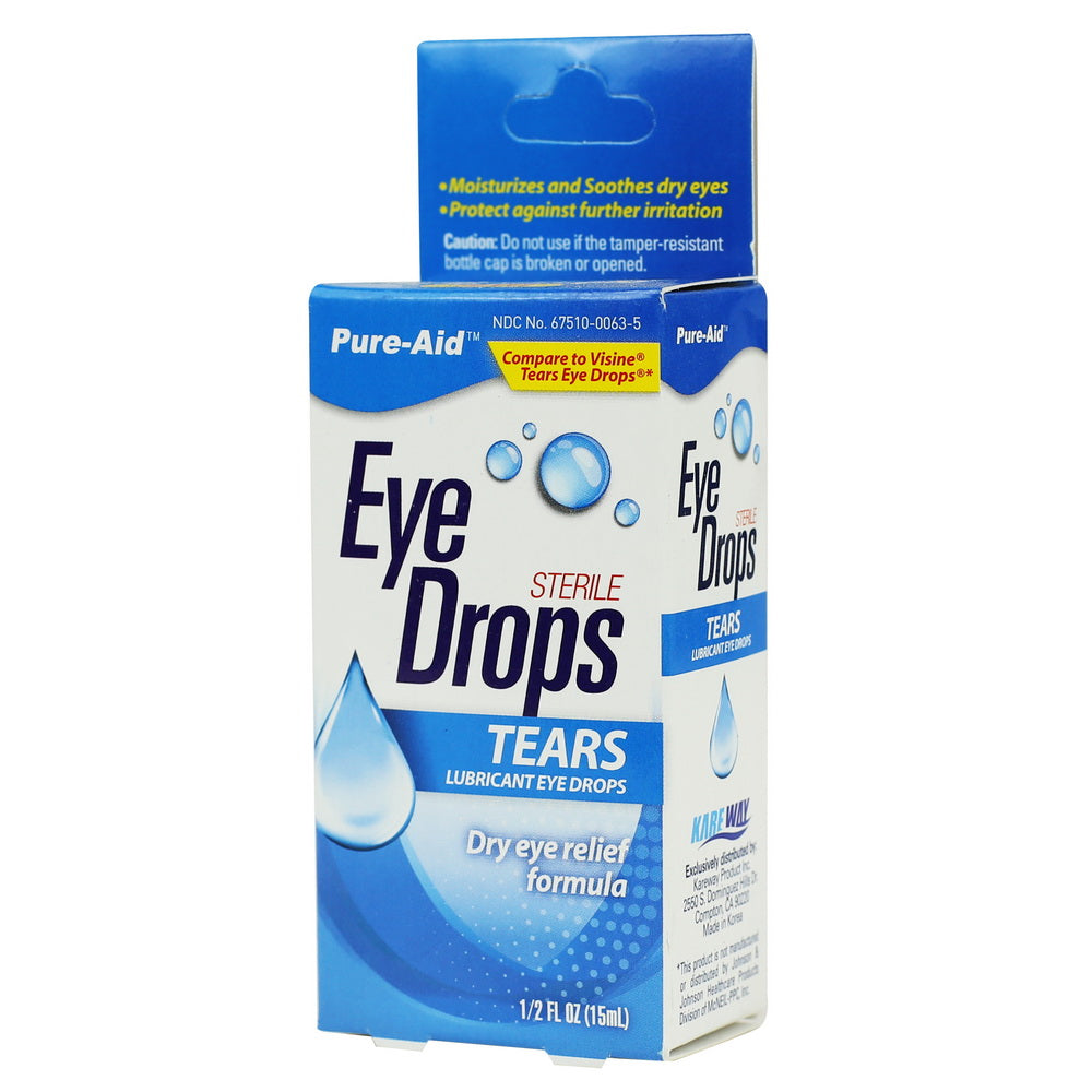 Pure-Aid Tears Eye Drop, 0.5 oz  (Compare to Visine)