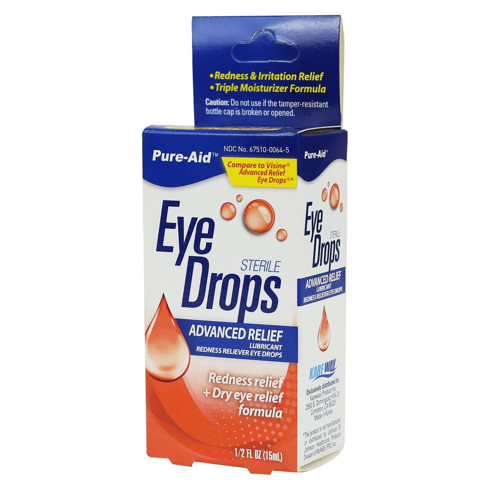 Pure-Aid Advanced Relief Eye Drop, 0.5 oz (Compare to Visine)