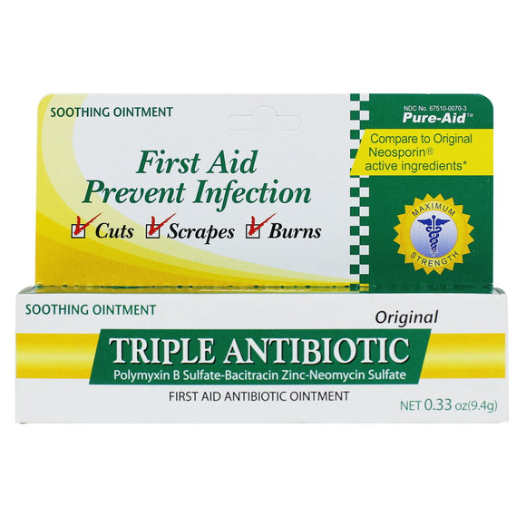 Pure-Aid Triple Antibiotic Ointment,  0.33oz