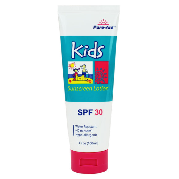 Pure-Aid Kids 30 SPF Sunscreen, 3.5 oz (Compare to Banana Boat)