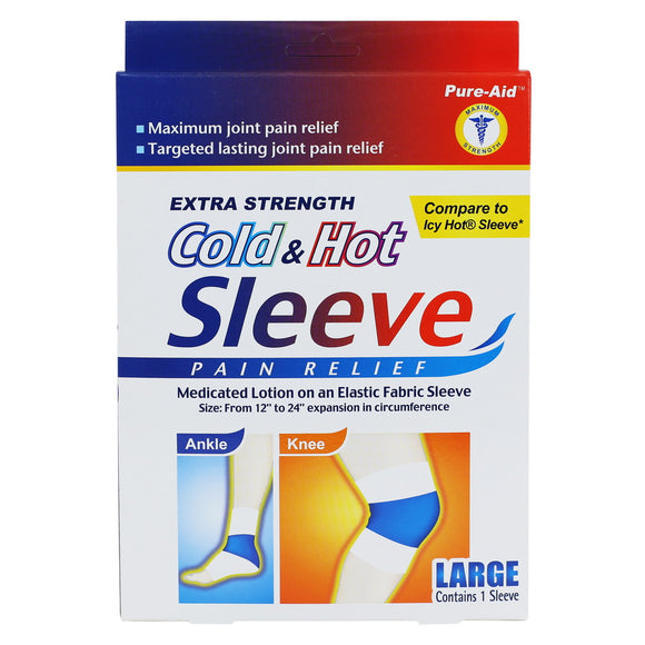Pure-Aid Cold & Hot Sleeve Patch,1ct (Compare to Icy Hot Sleeve)