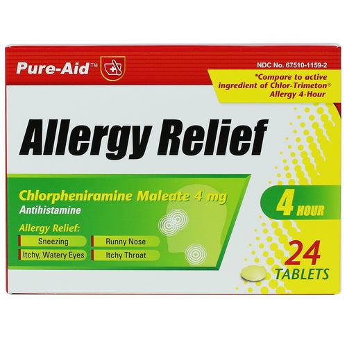 Pure-Aid Allergy Relief Tablet, 24ct
