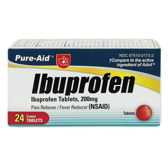 Pure-Aid Ibuprofen Tablet, 24ct