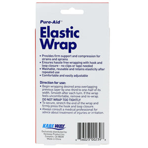 Pure-Aid Elastic Wrap 3in x 23.6in, 1Roll  (Compare to ACE)