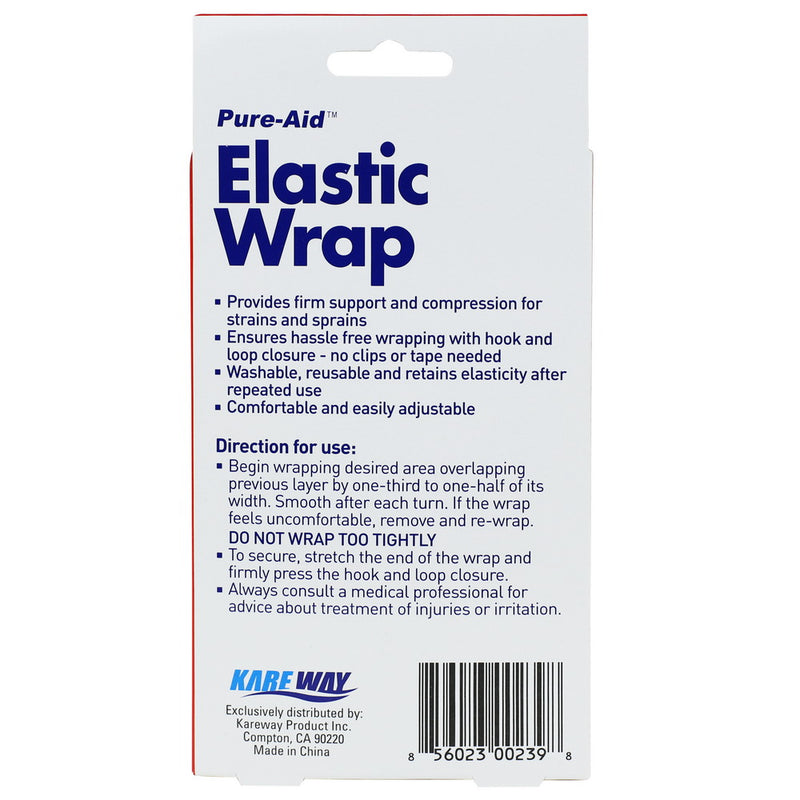 Pure-Aid Elastic Wrap 3in x 23.6in, 1Roll