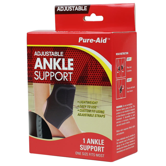 Pure-Aid Adjustable Ankle Support